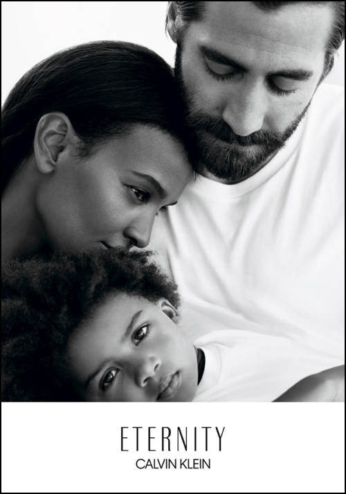 Actor Jake Gyllenhaal and model Liya Kebede as faces of Eternity Calvin...